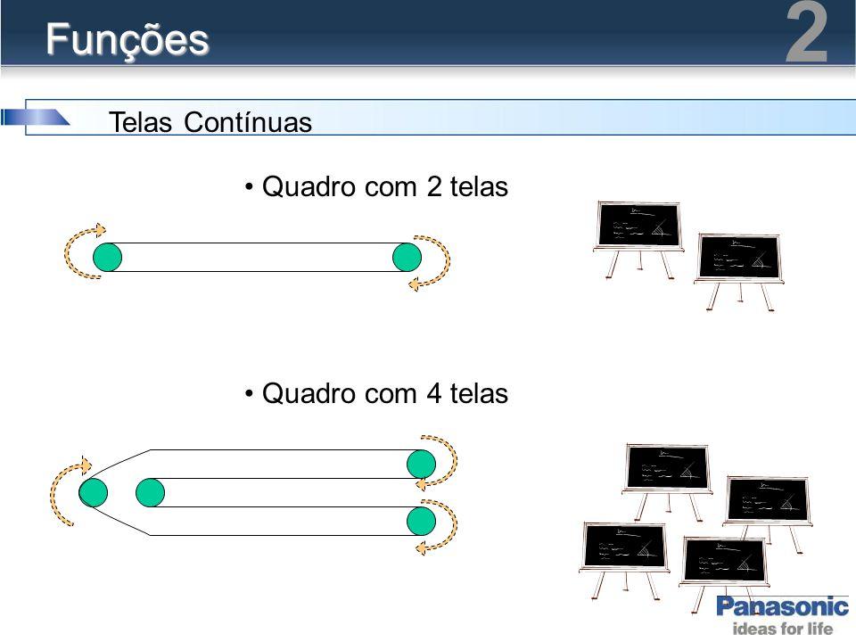 2 Funções Telas Contínuas Quadro com 2 telas Quadro com 4 telas