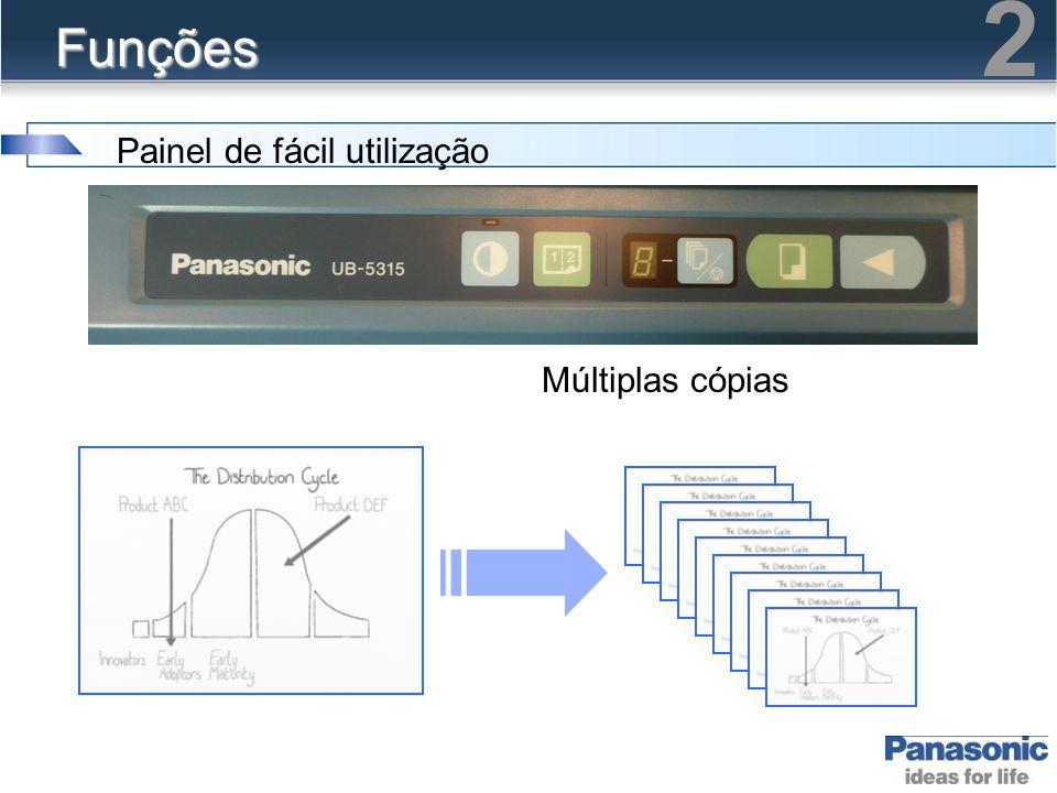 2 Funções Painel de fácil utilização Múltiplas cópias