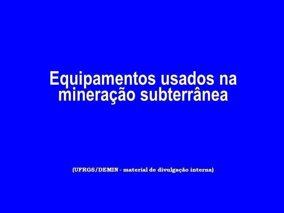 4/2/2017 Equipamentos usados na mineração subterrânea (UFRGS/DEMIN - material de divulgação interna)