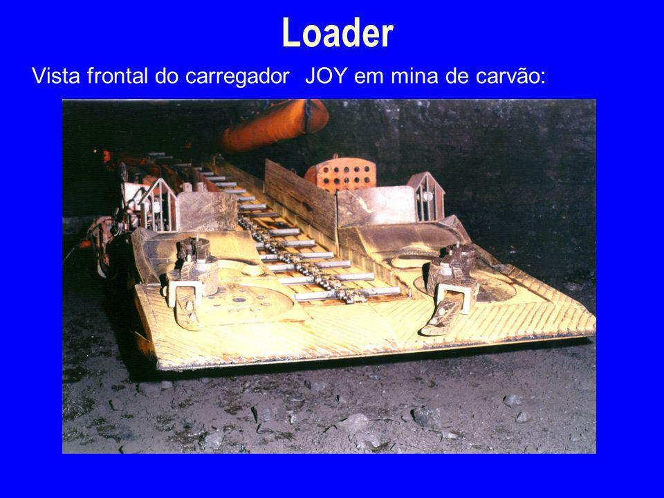 Loader 4/2/2017 Vista frontal do carregador JOY em mina de carvão: