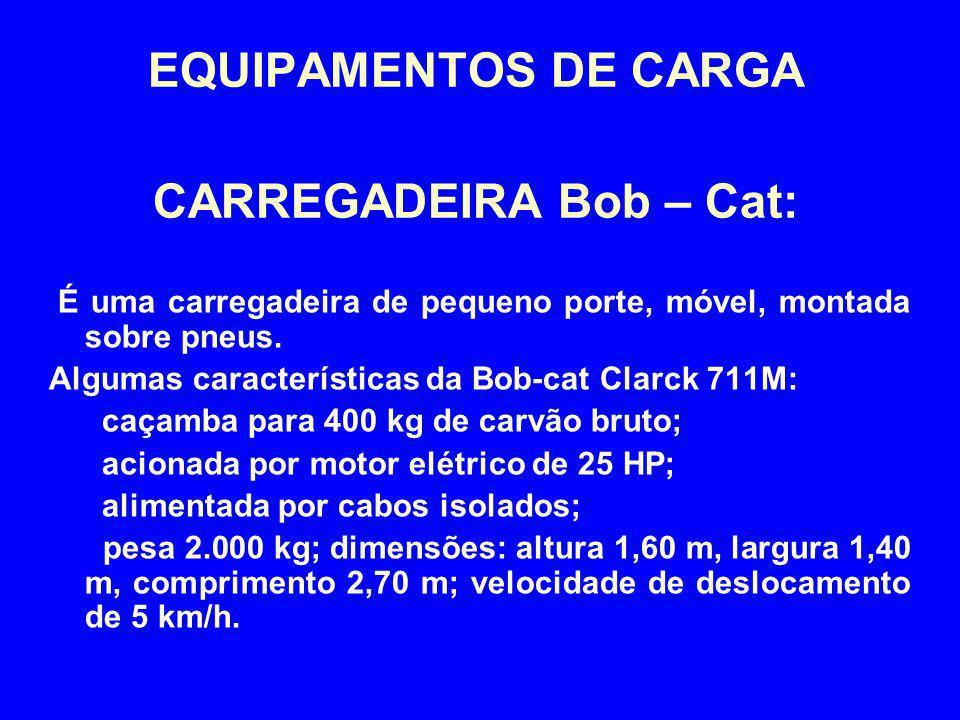 EQUIPAMENTOS DE CARGA CARREGADEIRA Bob – Cat: