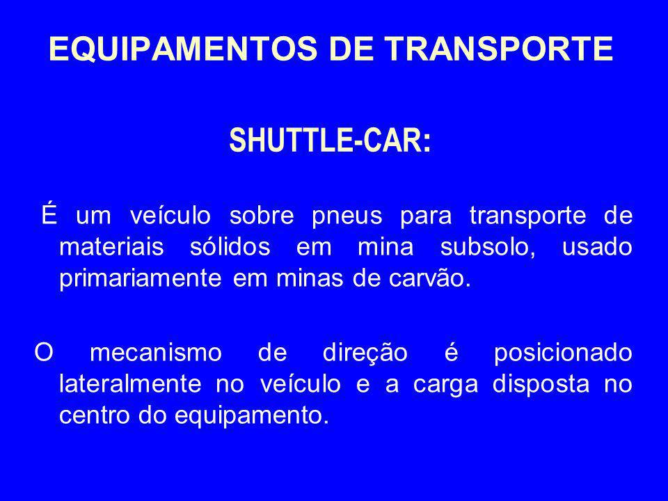 EQUIPAMENTOS DE TRANSPORTE SHUTTLE-CAR: