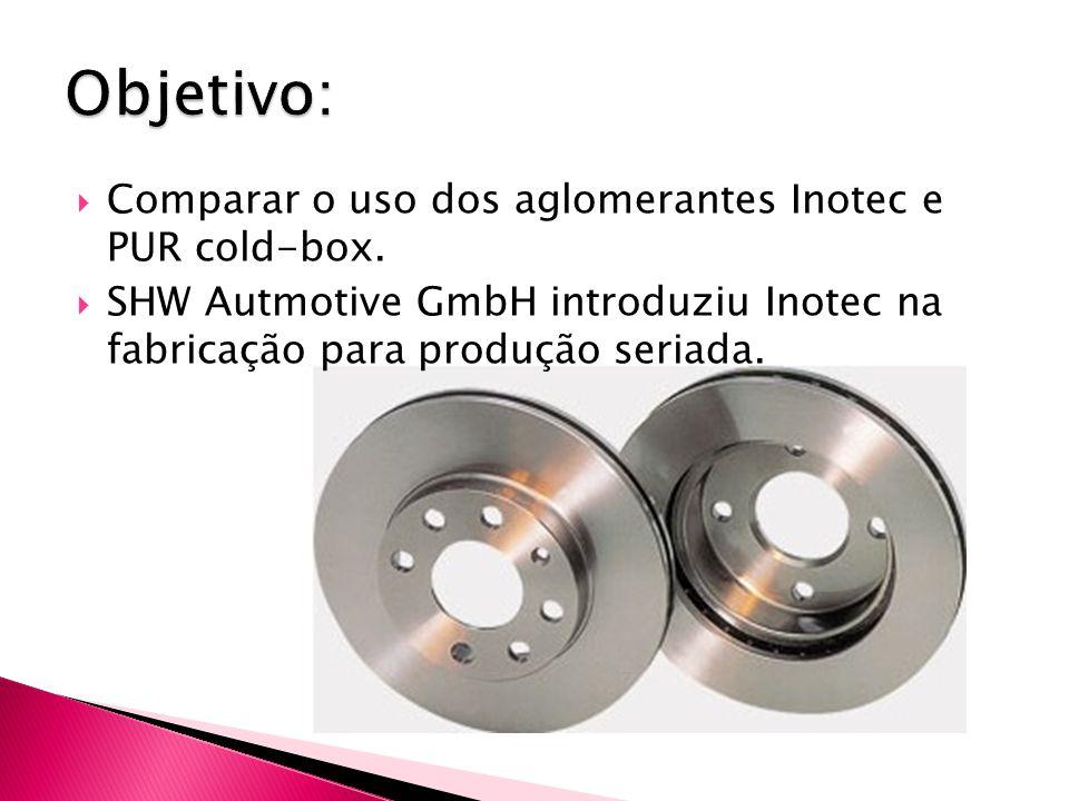 Objetivo: Comparar o uso dos aglomerantes Inotec e PUR cold-box.