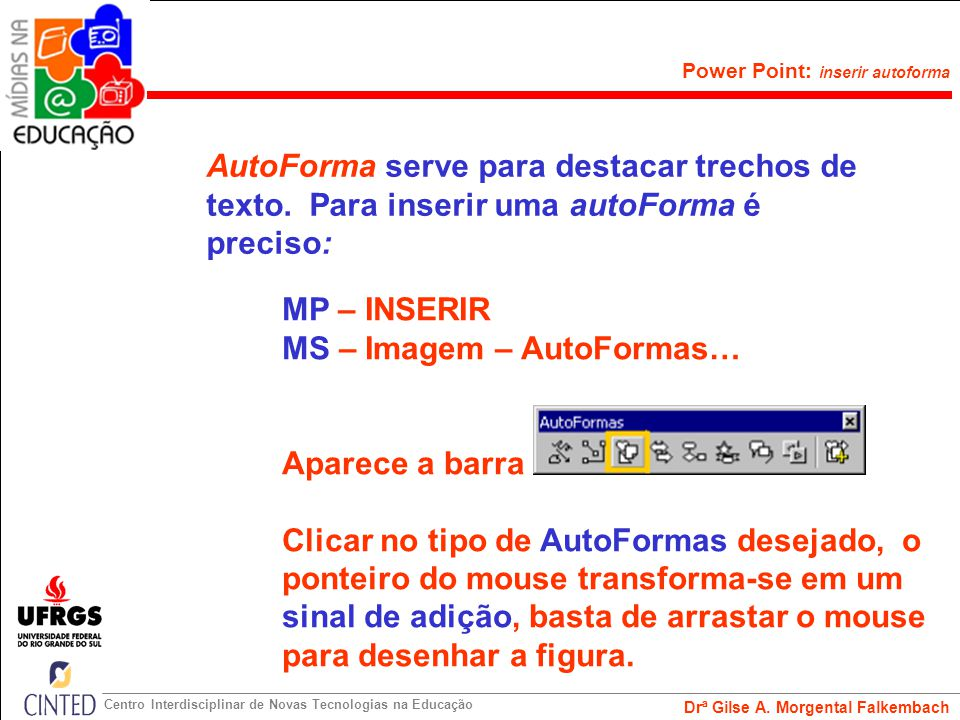 AutoForma serve para destacar trechos de