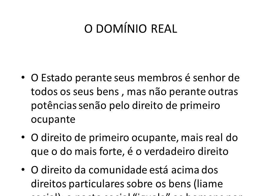 O DOMÍNIO REAL