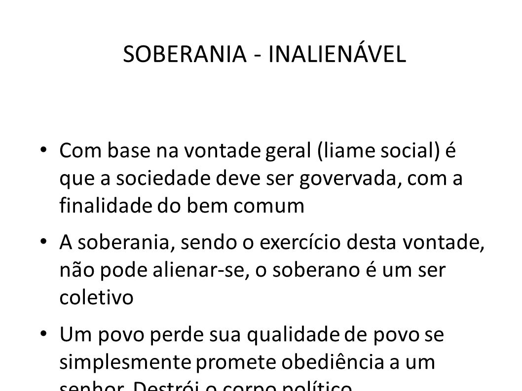 SOBERANIA - INALIENÁVEL