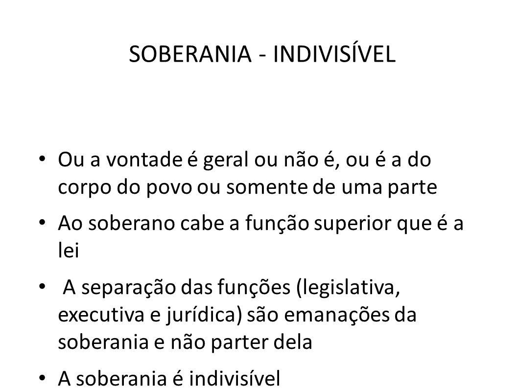 SOBERANIA - INDIVISÍVEL