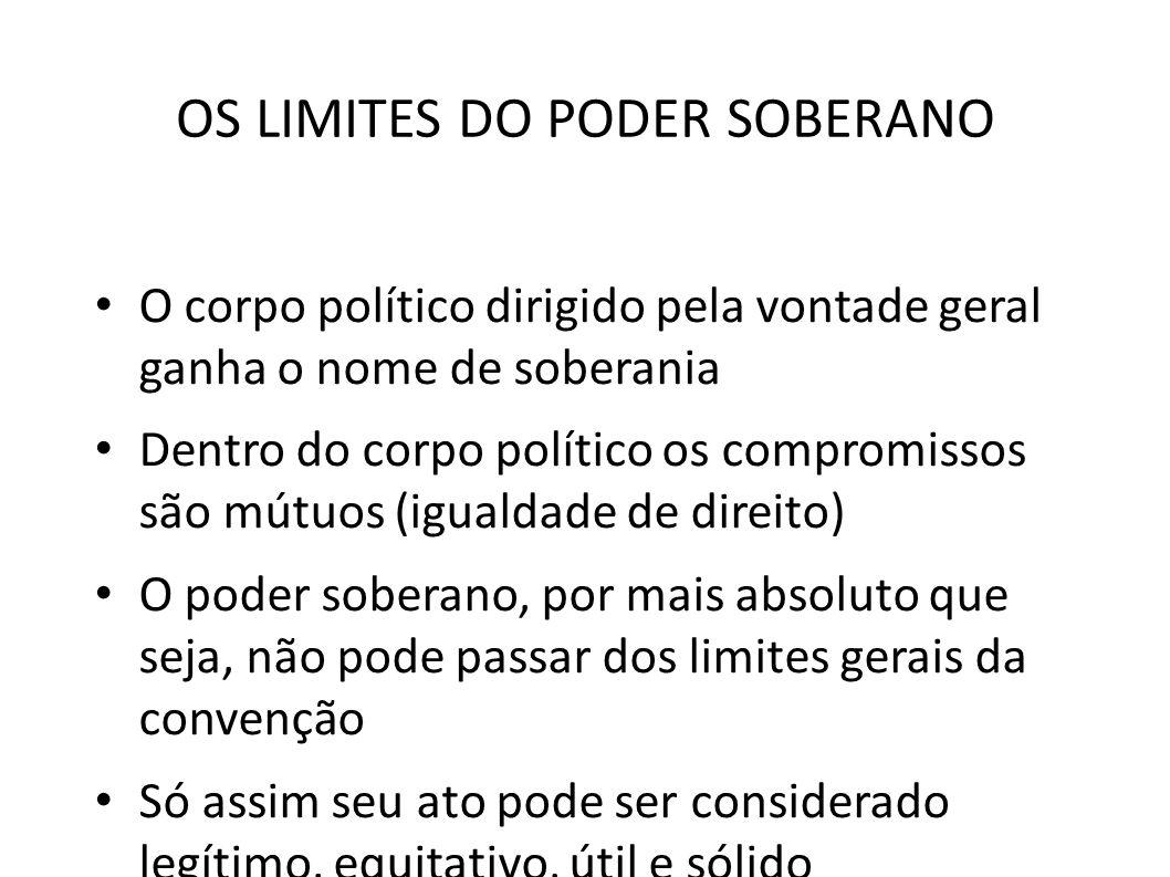 OS LIMITES DO PODER SOBERANO