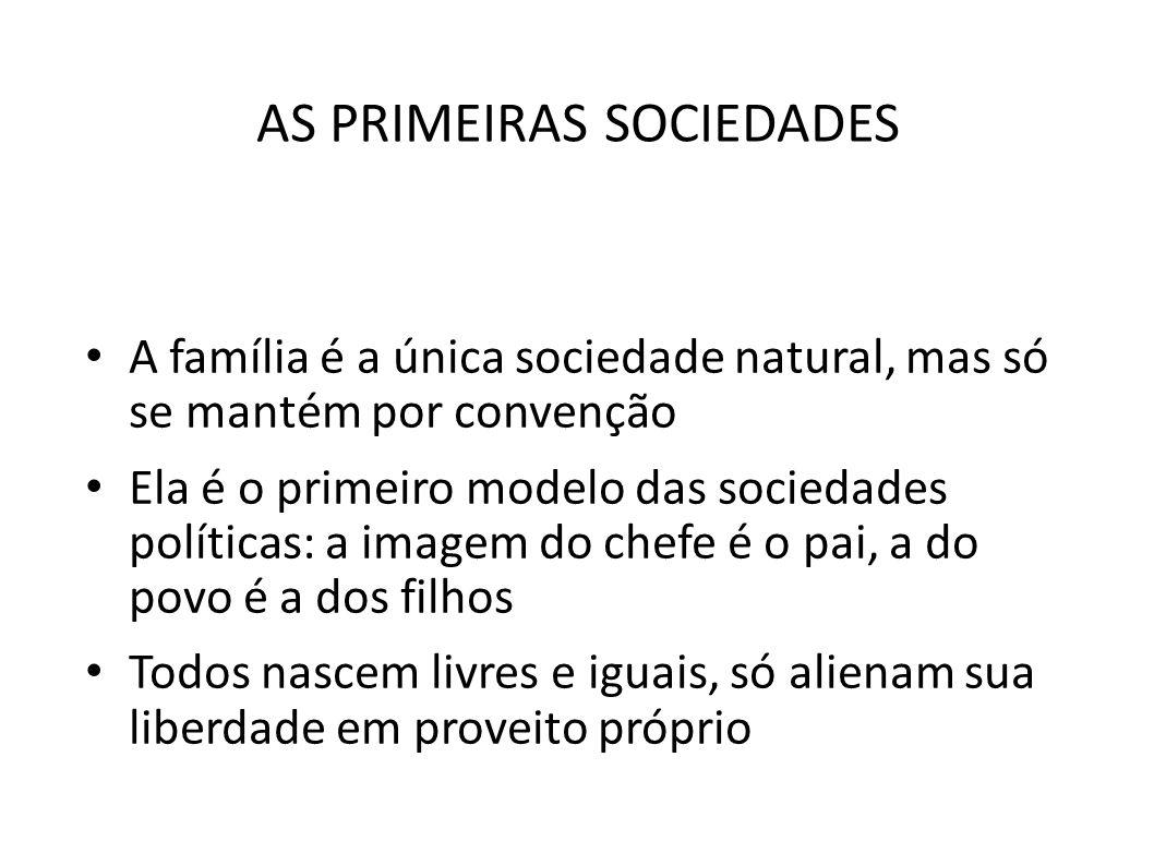 AS PRIMEIRAS SOCIEDADES