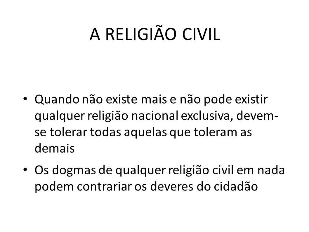 A RELIGIÃO CIVIL