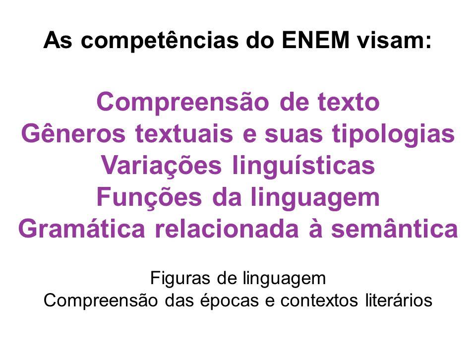 Gêneros textuais e suas tipologias Variações linguísticas