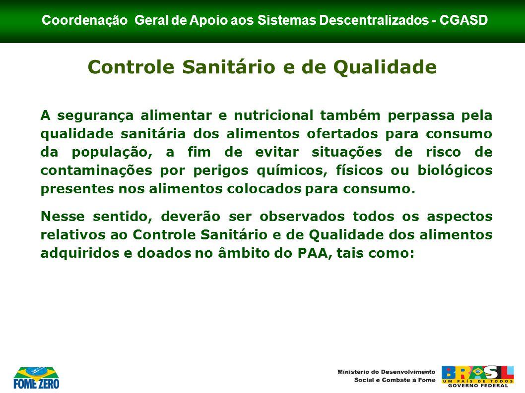 Controle Sanitário e de Qualidade