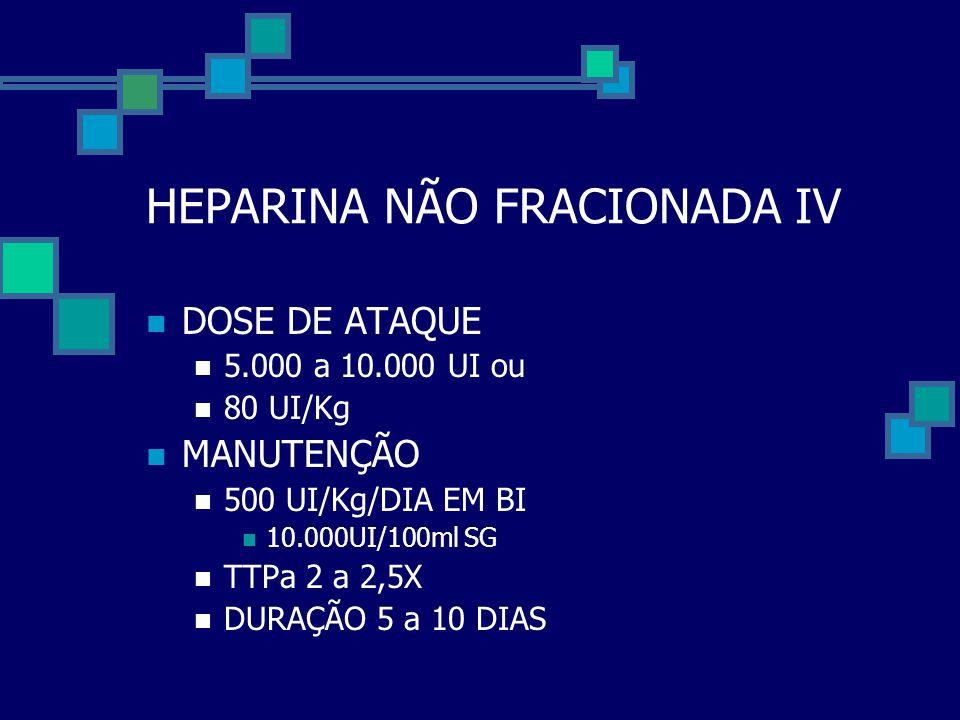HEPARINA NÃO FRACIONADA IV