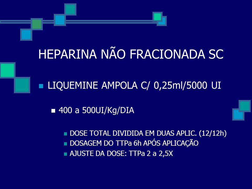 HEPARINA NÃO FRACIONADA SC
