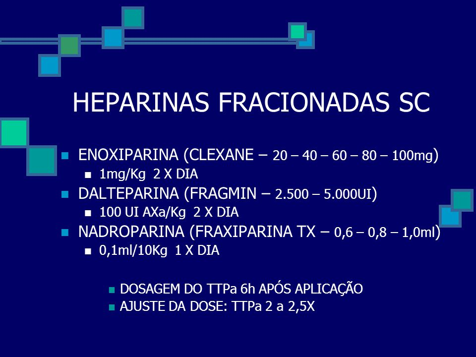 HEPARINAS FRACIONADAS SC