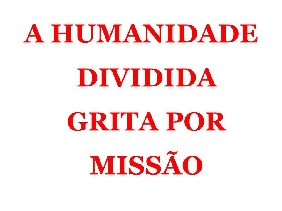 A HUMANIDADE DIVIDIDA GRITA POR MISSÃO