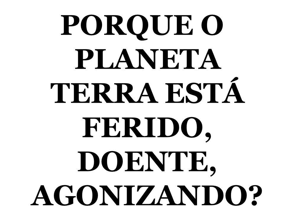 PORQUE O PLANETA TERRA ESTÁ FERIDO, DOENTE, AGONIZANDO