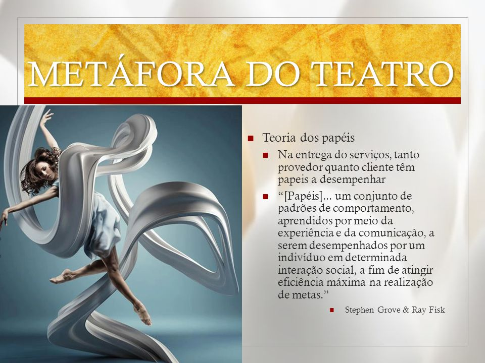 METÁFORA DO TEATRO Teoria dos papéis