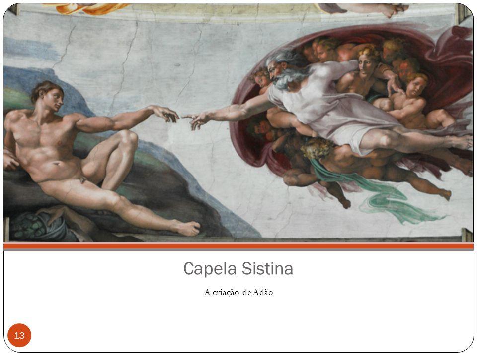 Capela Sistina A criação de Adão