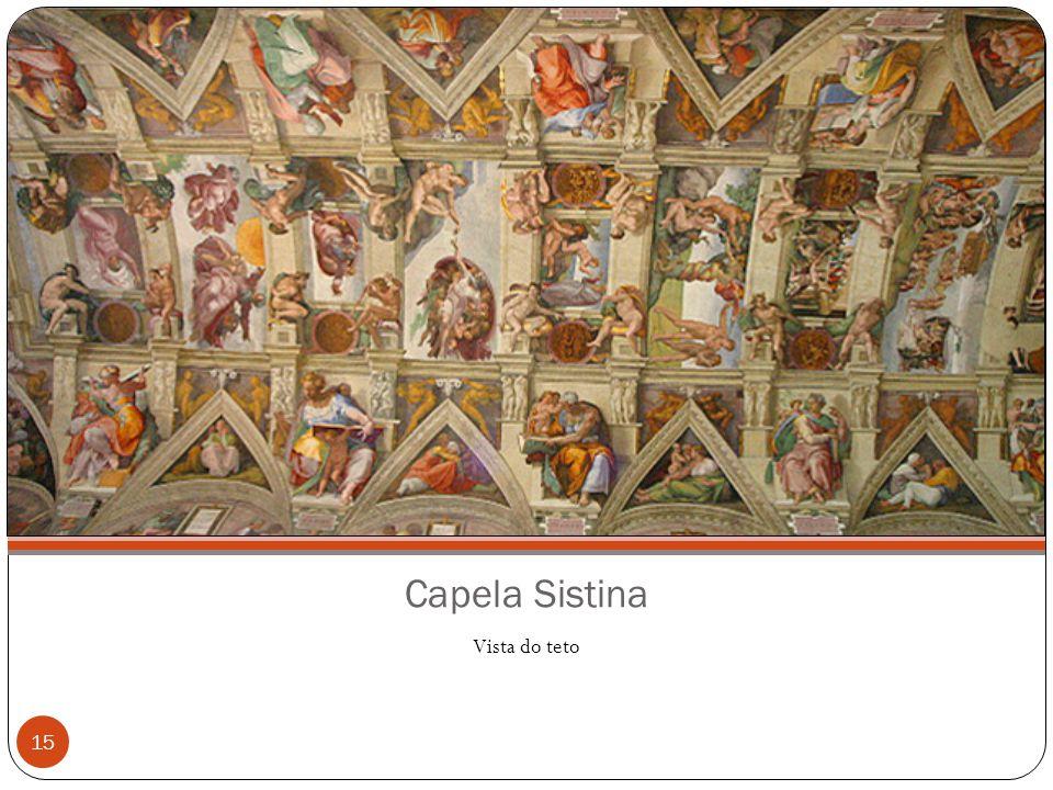 Capela Sistina Vista do teto