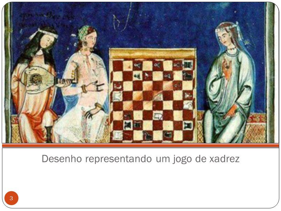 Desenho representando um jogo de xadrez