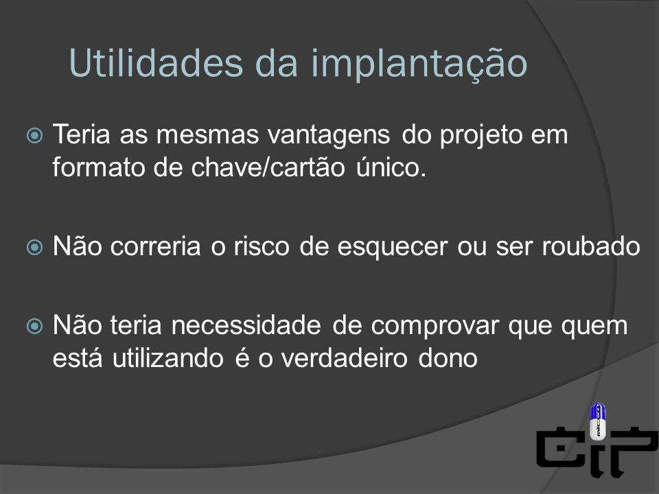 Utilidades da implantação