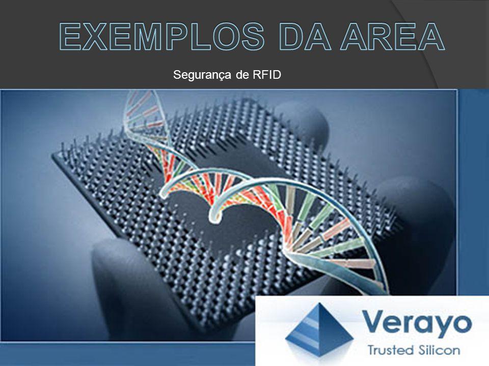 EXEMPLOS DA AREA Segurança de RFID