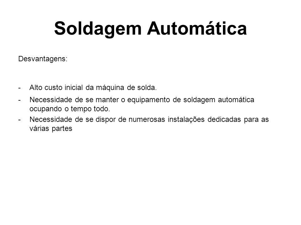 Soldagem Automática Desvantagens: