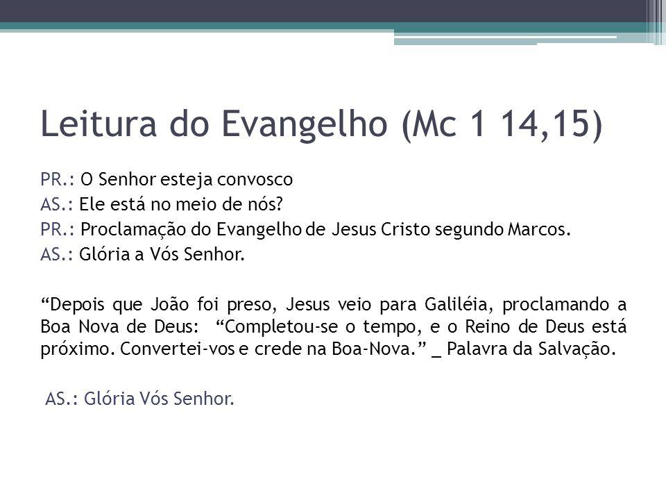 Leitura do Evangelho (Mc 1 14,15)