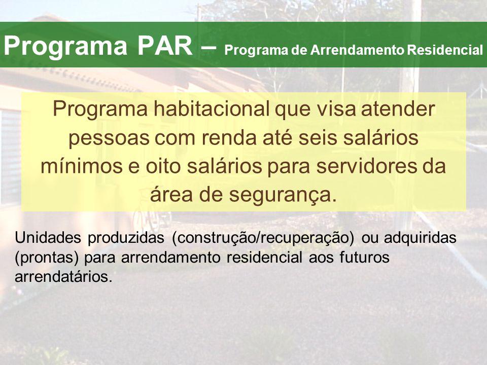 Programa PAR – Programa de Arrendamento Residencial