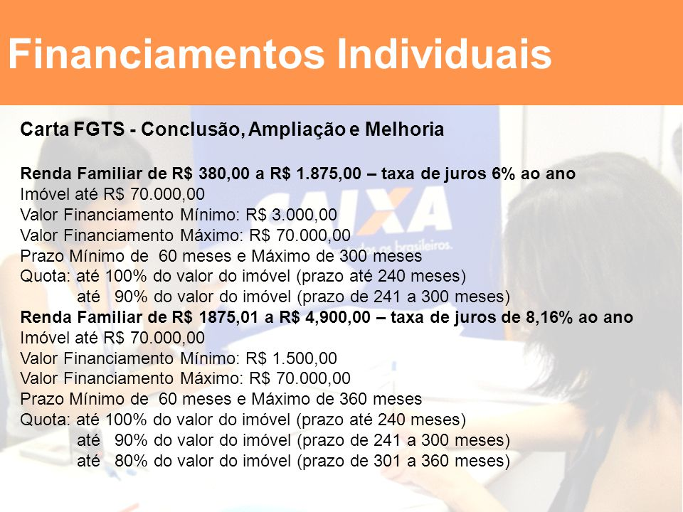 Financiamentos Individuais
