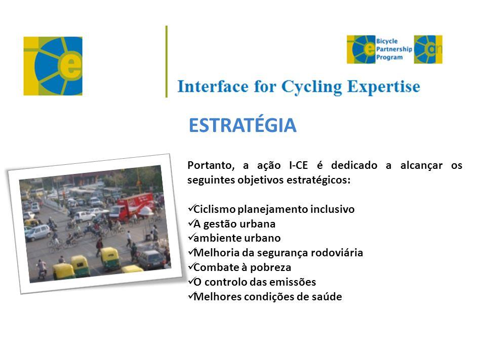 ESTRATÉGIA Portanto, a ação I-CE é dedicado a alcançar os seguintes objetivos estratégicos: Ciclismo planejamento inclusivo.