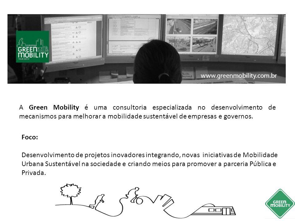 A Green Mobility é uma consultoria especializada no desenvolvimento de mecanismos para melhorar a mobilidade sustentável de empresas e governos.