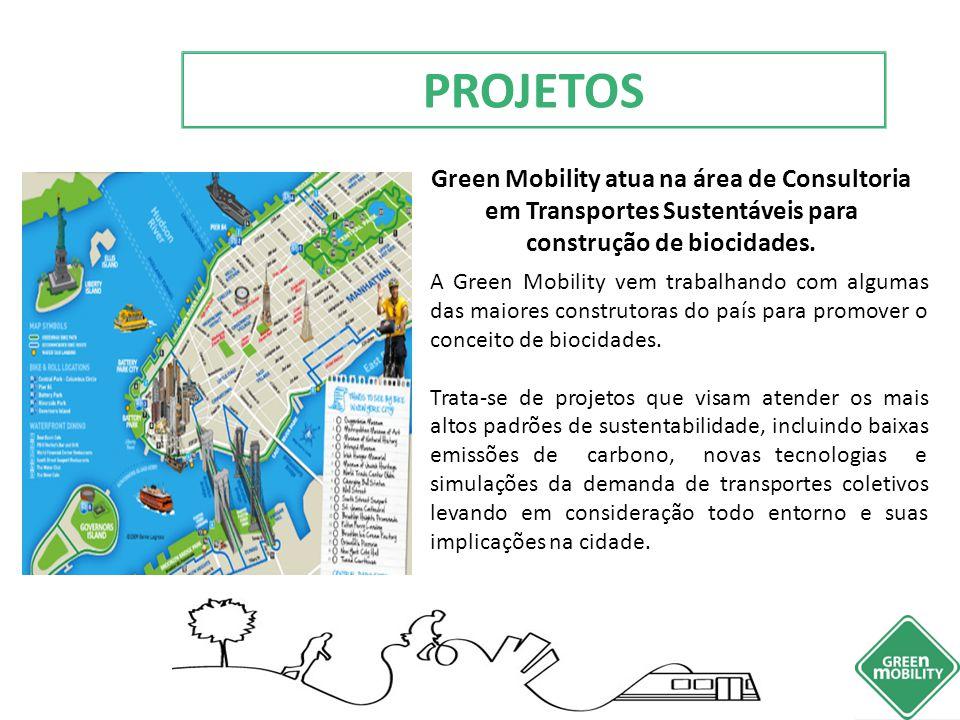 PROJETOS Green Mobility atua na área de Consultoria em Transportes Sustentáveis para construção de biocidades.