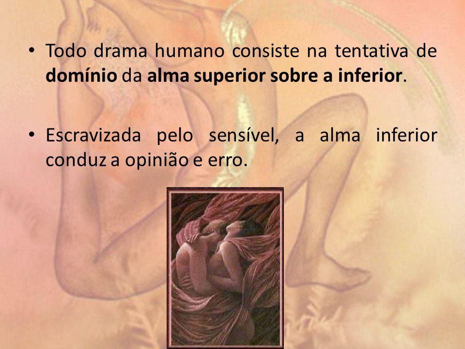 Todo drama humano consiste na tentativa de domínio da alma superior sobre a inferior.