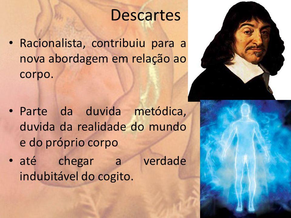 Descartes Racionalista, contribuiu para a nova abordagem em relação ao corpo.