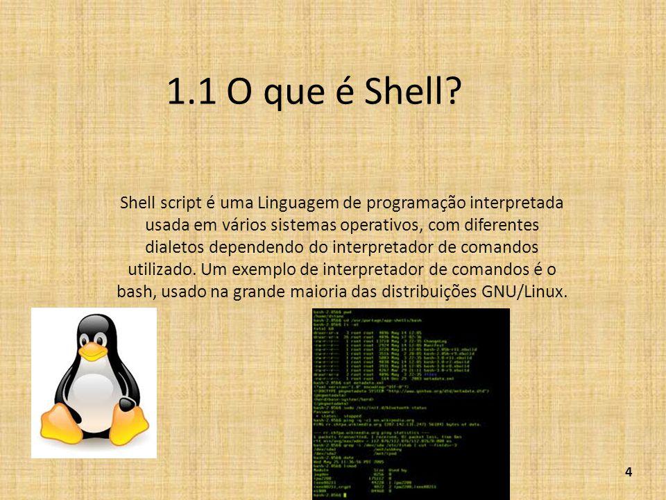 1.1 O que é Shell