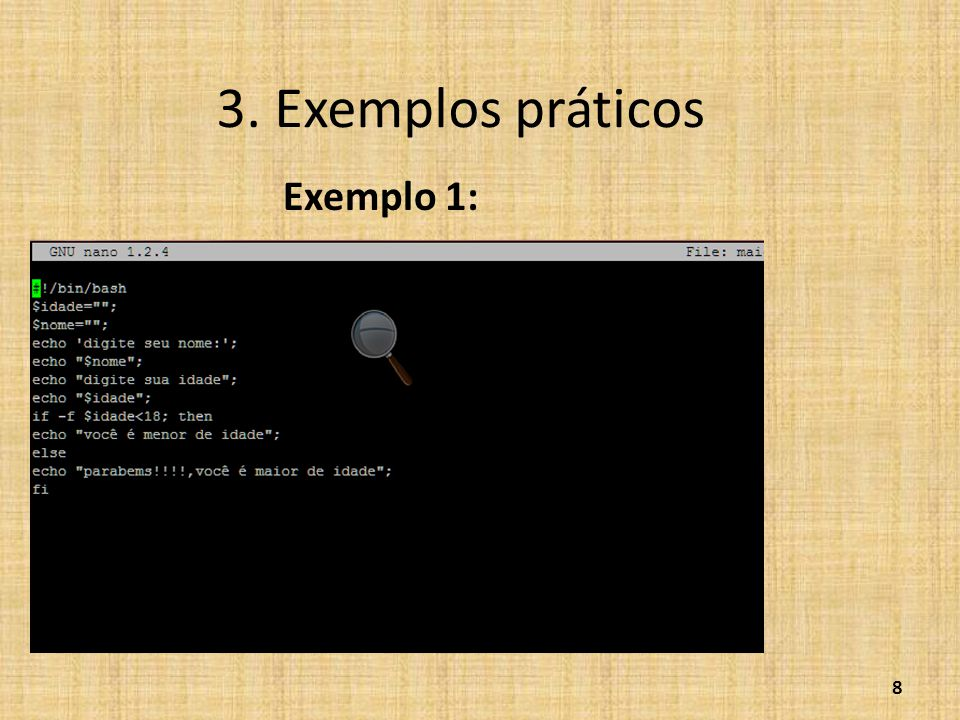 3. Exemplos práticos Exemplo 1: