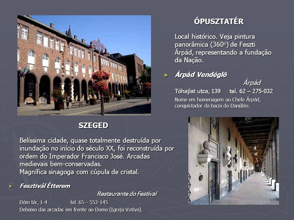ÓPUSZTATÉR Local histórico. Veja pintura panorâmica (360o) de Feszti Árpád, representando a fundação da Nação.