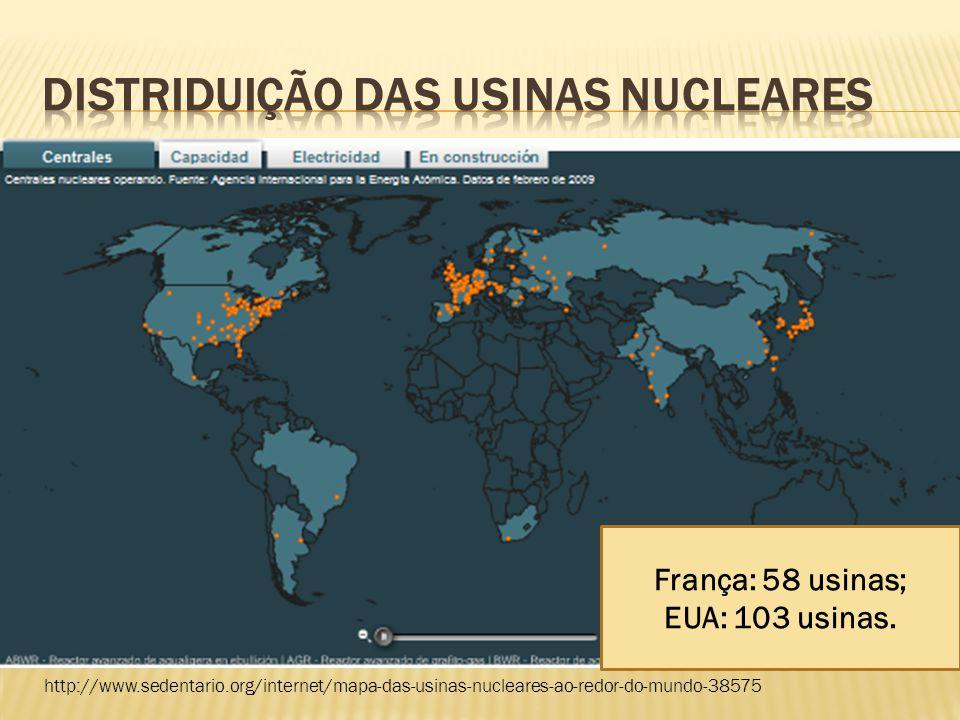 DISTRIDUIÇÃO DAS USINAS NUCLEARES