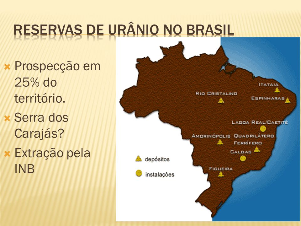 Reservas de urânio no brasil