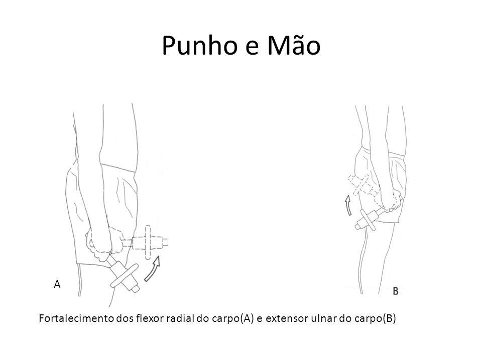 Punho e Mão A Fortalecimento dos flexor radial do carpo(A) e extensor ulnar do carpo(B)