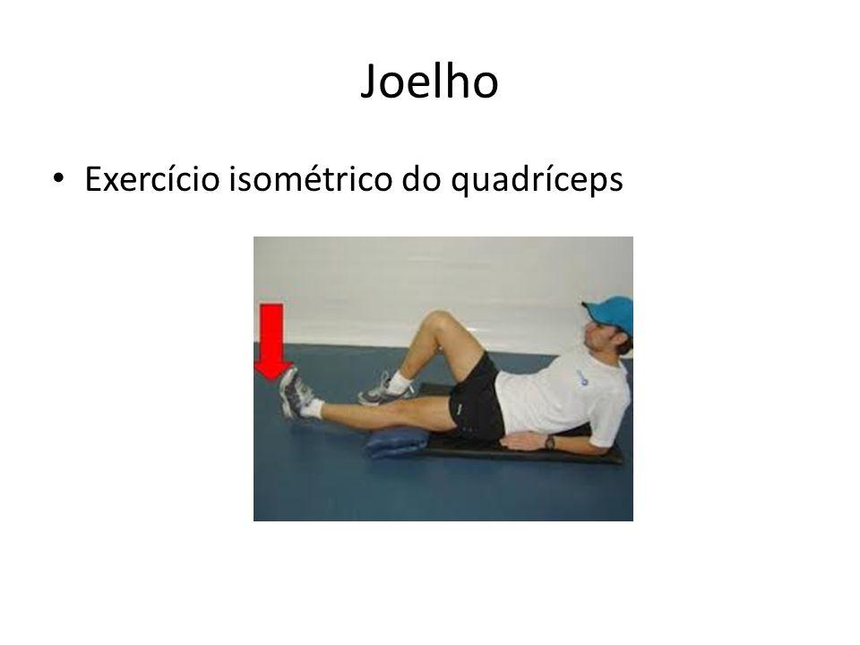 Joelho Exercício isométrico do quadríceps