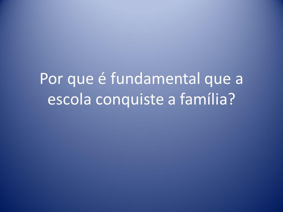 Por que é fundamental que a escola conquiste a família