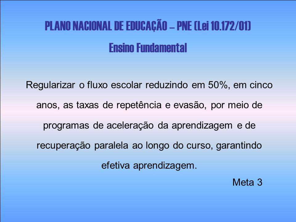 PLANO NACIONAL DE EDUCAÇÃO – PNE (Lei 10.172/01) Ensino Fundamental