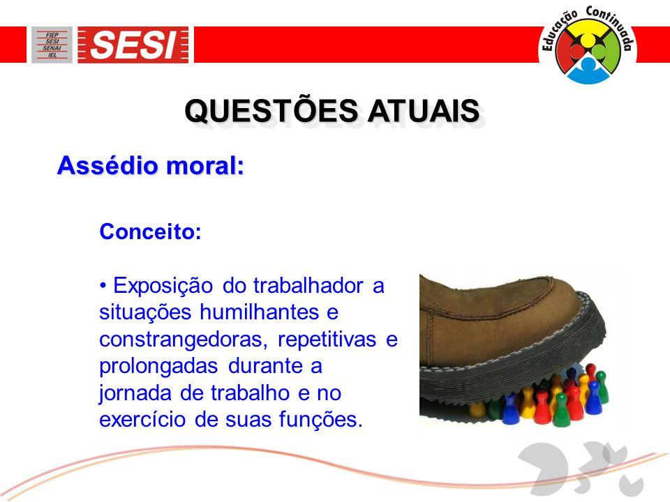 QUESTÕES ATUAIS Assédio moral: Conceito: