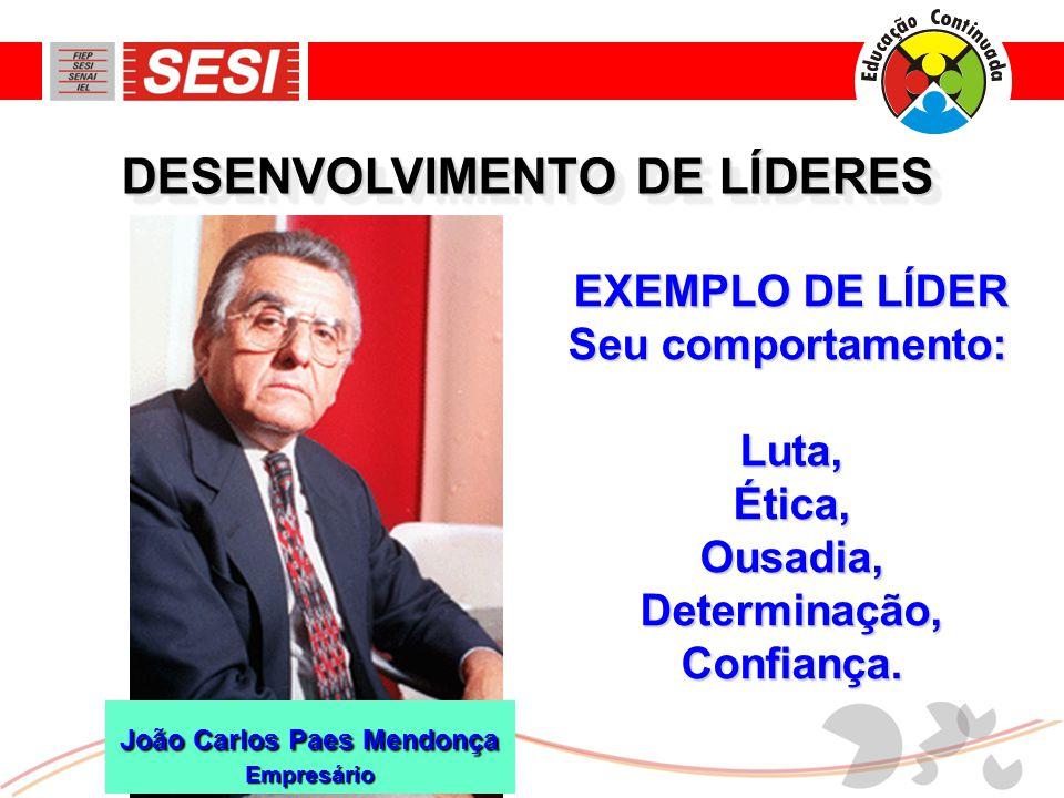 DESENVOLVIMENTO DE LÍDERES João Carlos Paes Mendonça