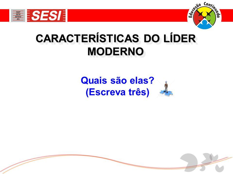 CARACTERÍSTICAS DO LÍDER MODERNO