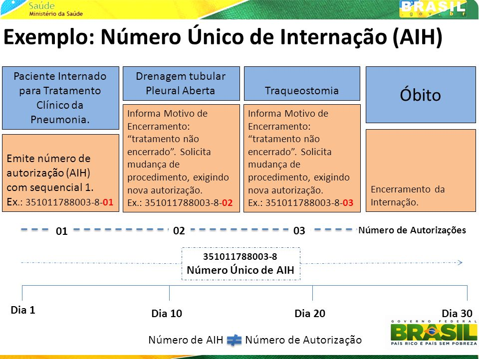 Exemplo: Número Único de Internação (AIH)