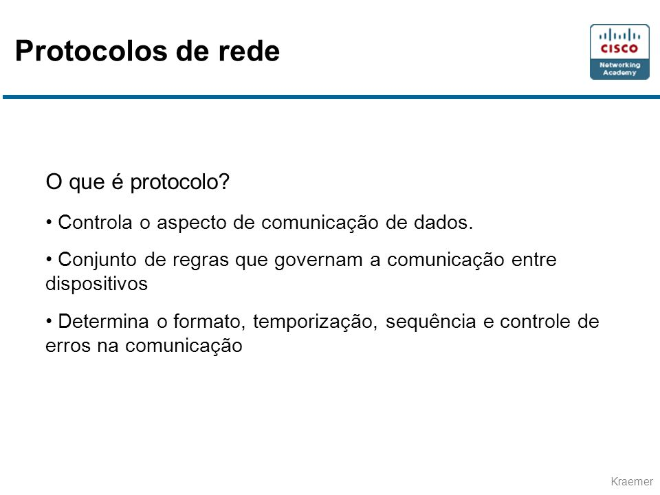 Protocolos de rede O que é protocolo